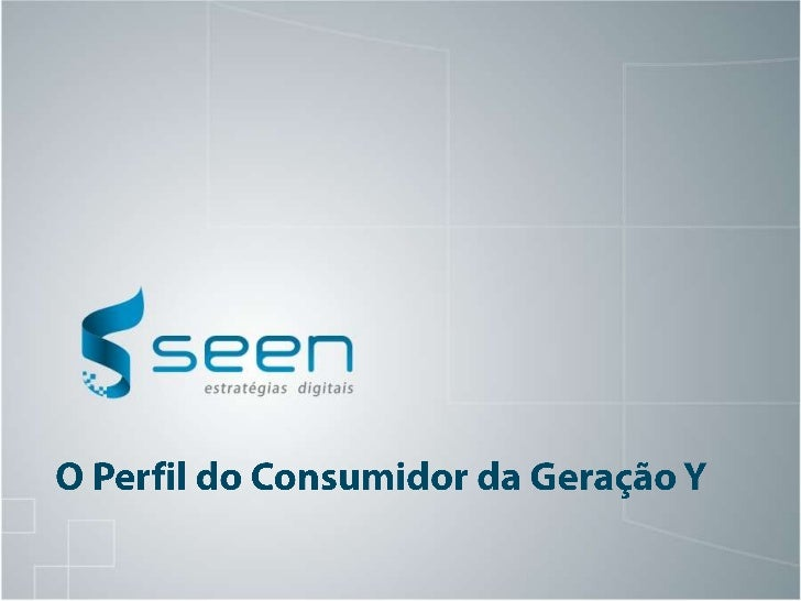 Consumidor Geracao Y
