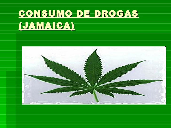 CONSUMO DE DROGAS (JAMAICA)
