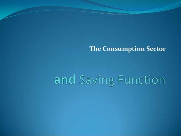 The Consumption Sector
