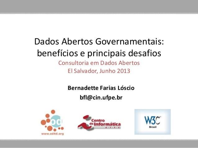 Presentación sobre Datos Abiertos / Bernadette Farias