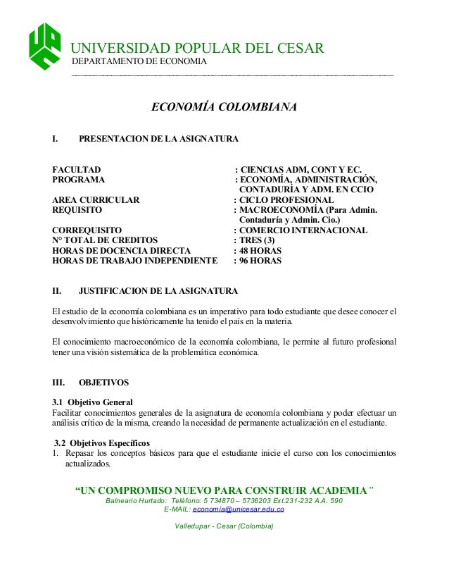 Cont. prog. economãa colombiana[1]