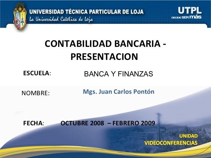Contabilidad Bancaria Presentación 1