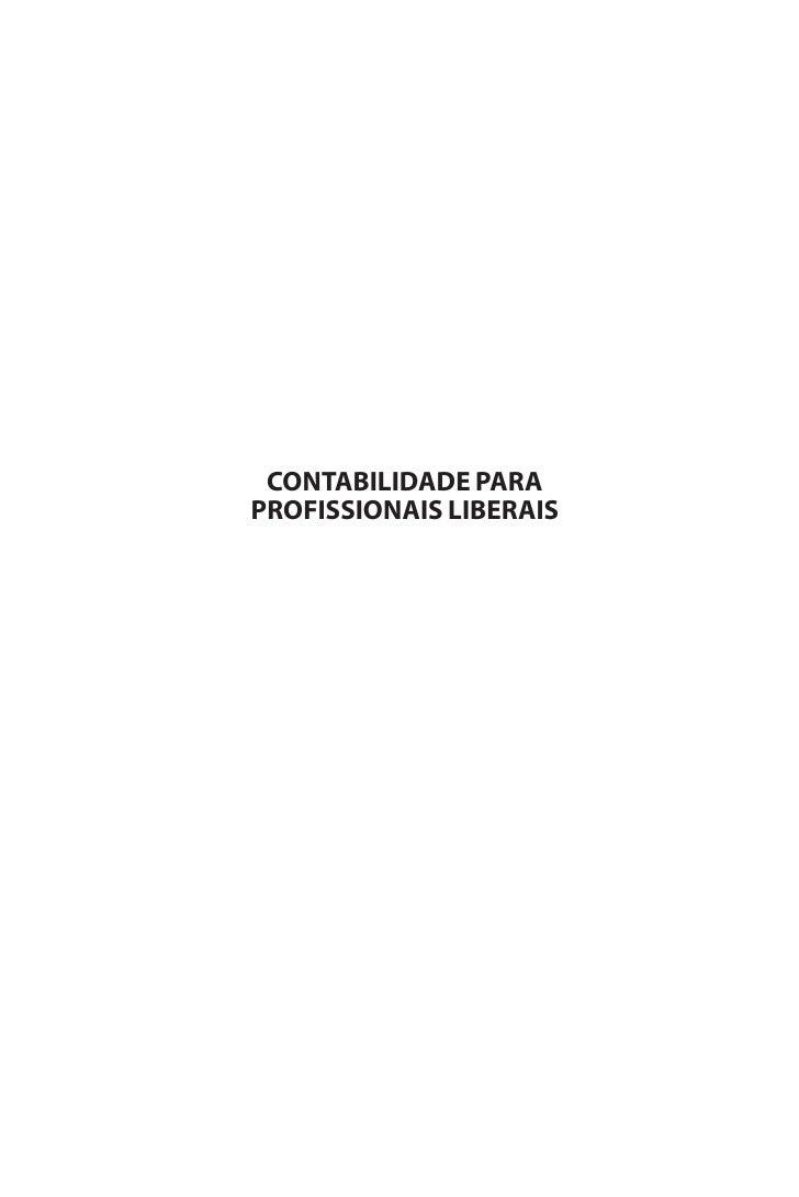 CONTABILIDADE PARA PROFISSIONAIS LIBERAIS
