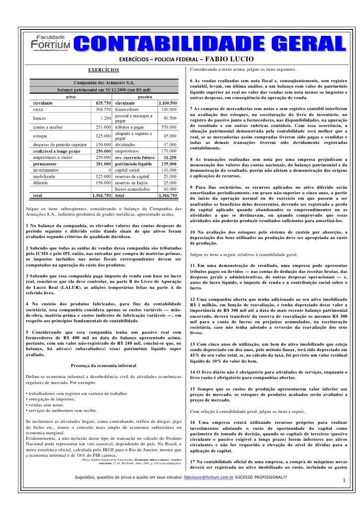 EXERCÍCIOS–POLICIAFEDERAL– FABIO LUCIO                                  EXERCÍCIOS                                    ...