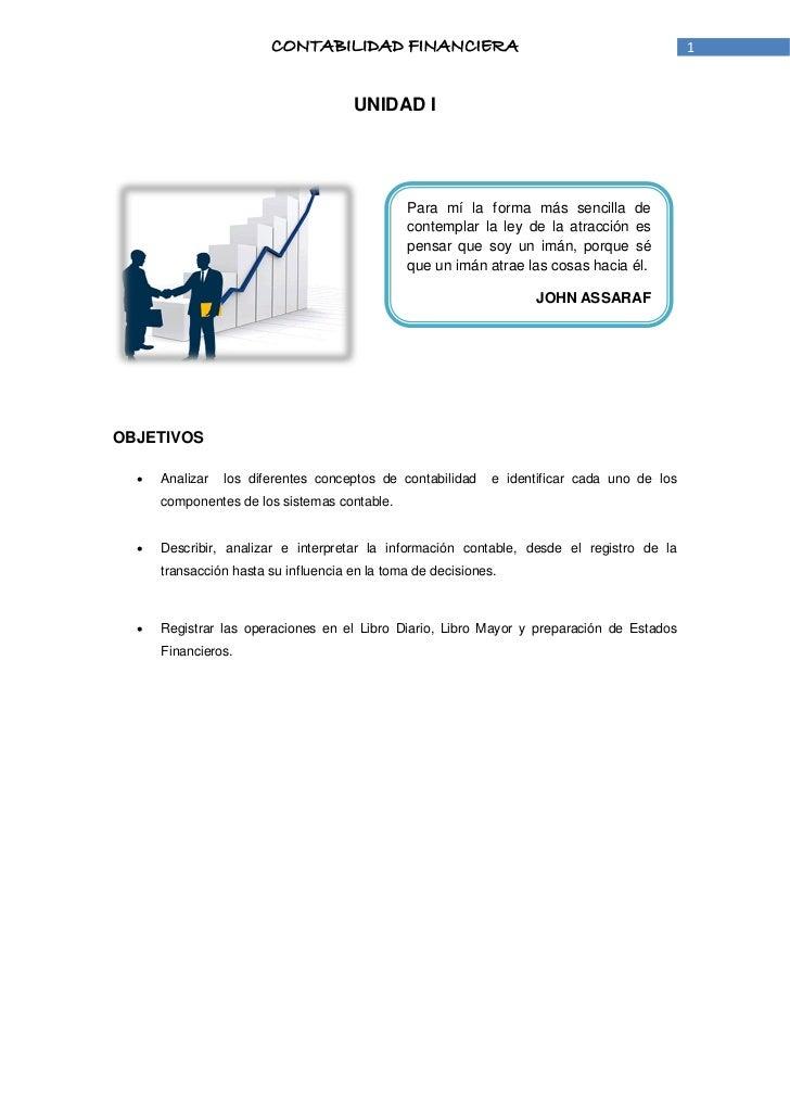 CONTABILIDAD FINANCIERA                                               1                                      UNIDAD I     ...