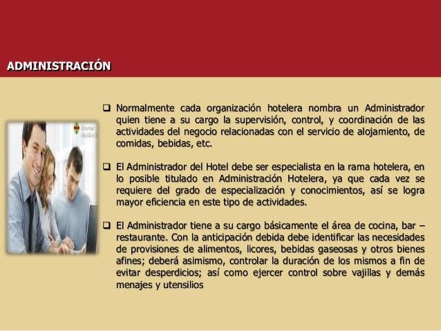 Contabilidad hotelera for Manual de procedimientos de alimentos y bebidas de un hotel