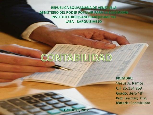 REPUBLICA BOLIVARIANA DE VENEZUELAMINISTERIO DEL PODER POPULAR PARA LA EDUCACION      INSTITUTO DIOCESANO BARQUISIMETIO   ...