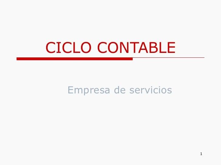 CICLO CONTABLE Empresa de servicios