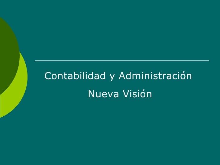 Contabilidad y Administración  Nueva Visión