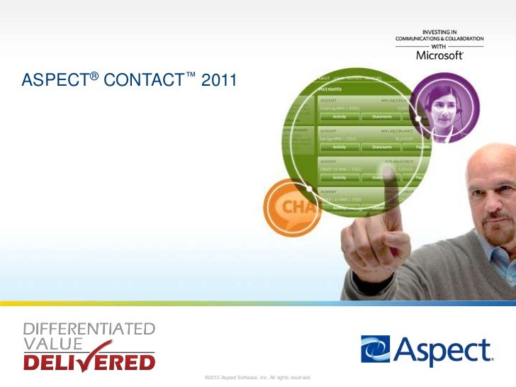 ASPECT® CONTACT™ 20111                 ©2012 Aspect Software, Inc. All rights reserved.