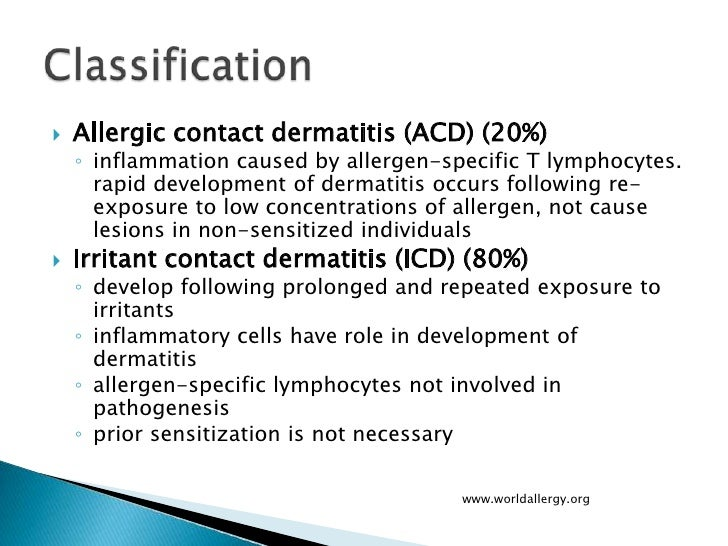 Allergic contact dermatitis | DermNet New Zealand