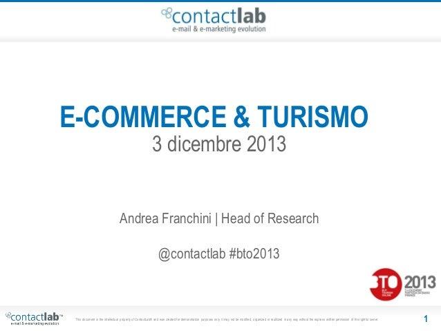 BTO 2013: E-commerce & Turismo