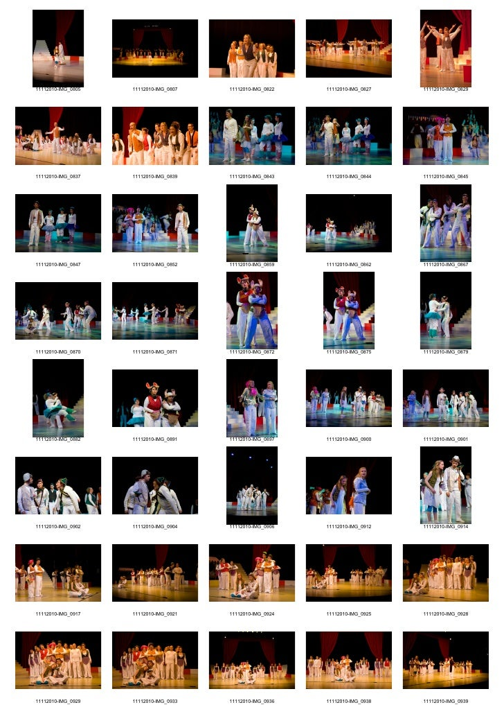 Contactsheets Seussical the Musical