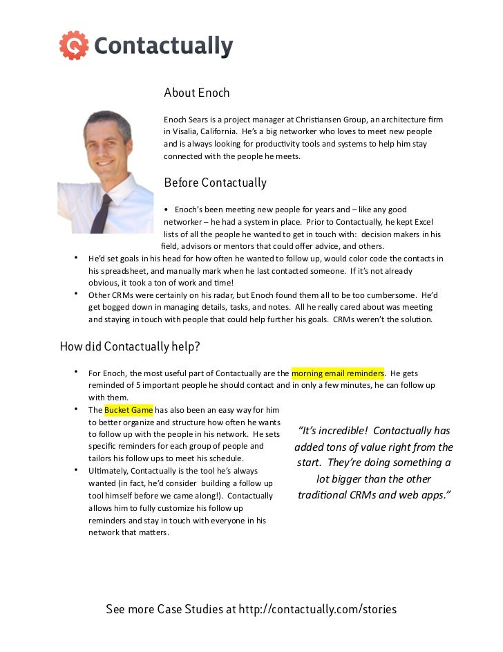 About Enoch                                         Enoch Sears is a project manager at Chris3ansen Group,...