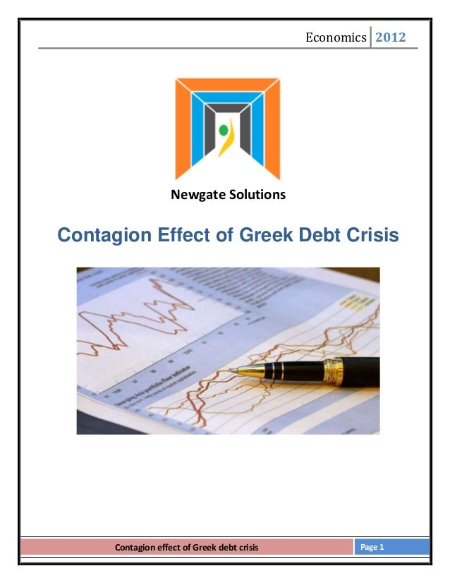 Contagion effect of greece debt crisis on europe