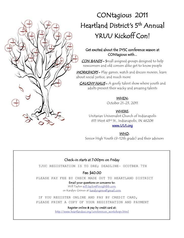 CONtagious 2011                          Heartland Districts 5th Annual                                    YRUU Kickoff Co...