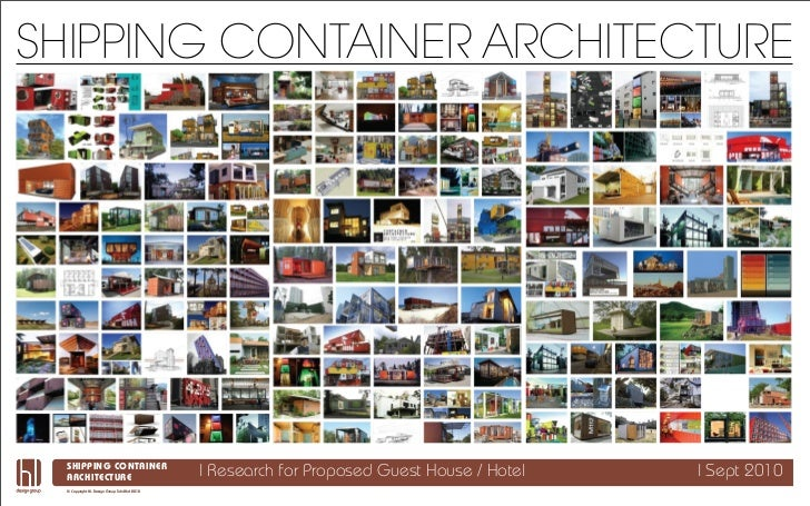 SHIPPING CONTAINER ARCHITECTURE  SHIPPING CONTAINER Project  ARCHITECTURE                               | Research for Pro...