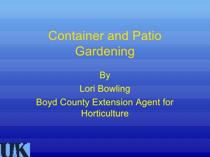 Container gardening with script