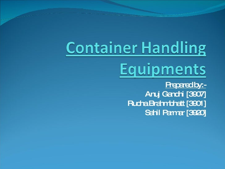 Container Handling Equipments