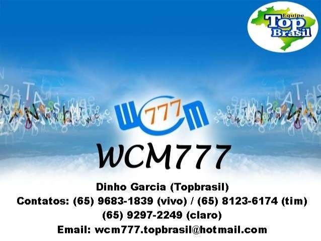Como criar a sua Conta Master na WCM777