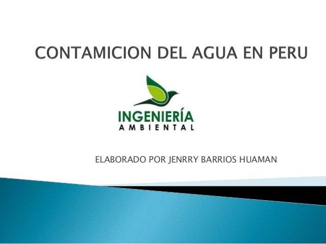 ELABORADO POR JENRRY BARRIOS HUAMAN