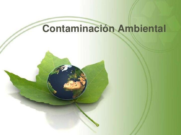 Contaminación Ambiental<br />