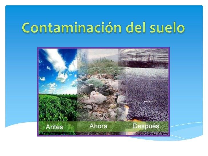 contaminaci n del suelo