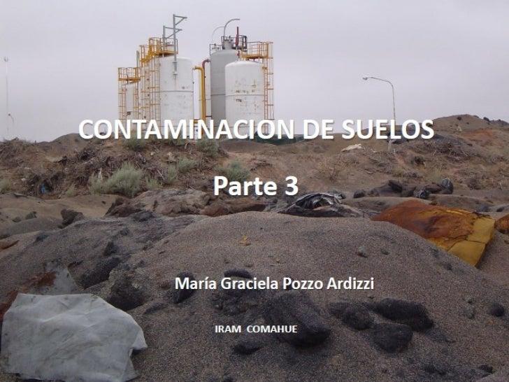 Contaminación de suelos parte 3 iram