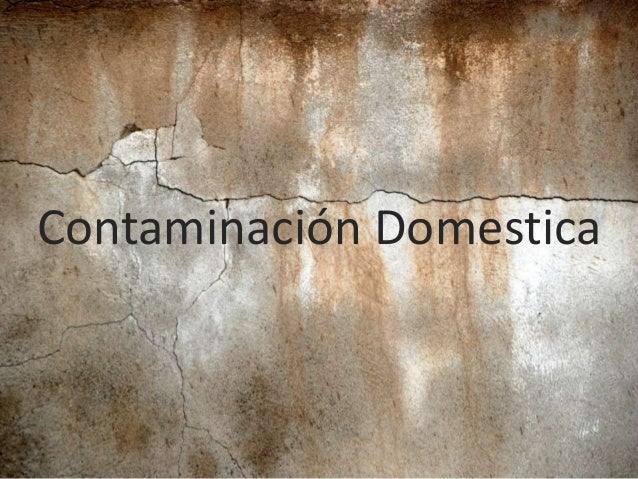 Contaminación Domestica