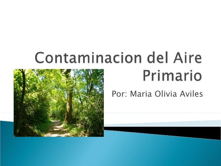 Contaminacion Del Aire Primario