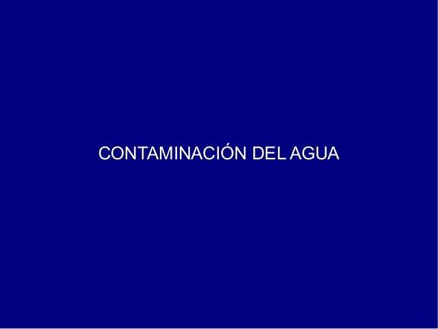Contaminación agua tema 11
