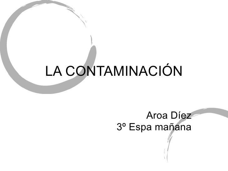 Contaminacion aroa