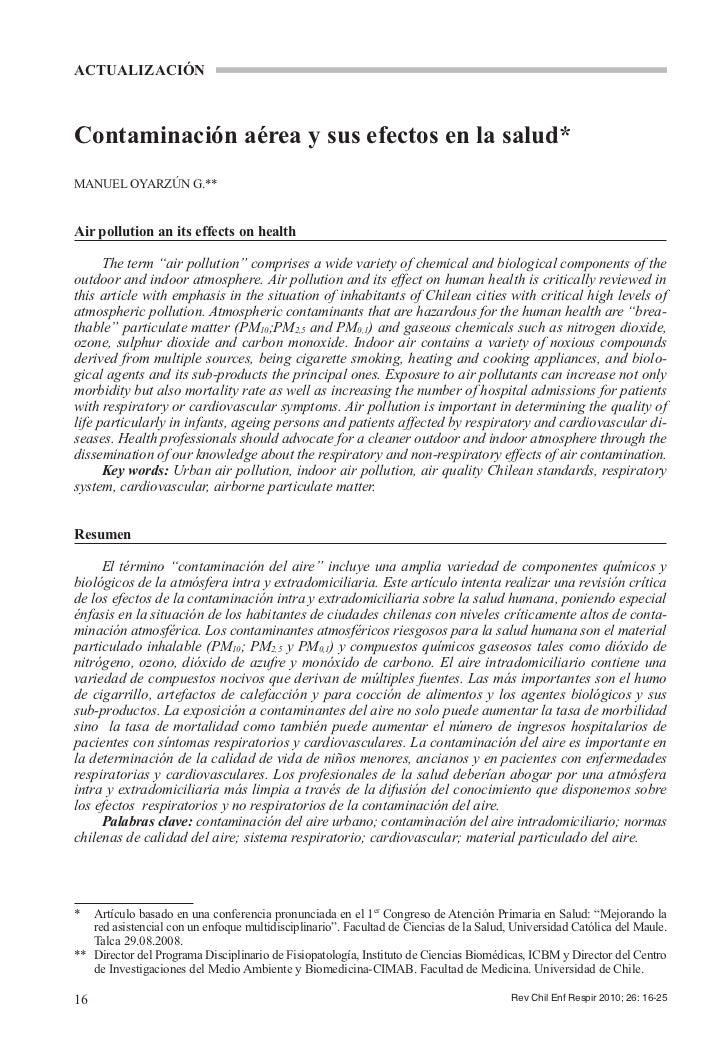Contaminacion atmosferica intra y extradomiciliaria