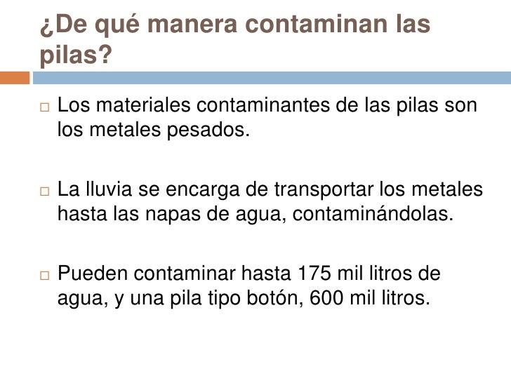 Contaminacion de las pilas - Pilas boton tipos ...