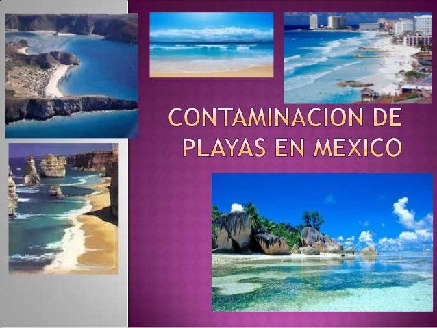   La contaminación de las playas puede también provenir de actividades desarrolladas en las grandes concentraciones urban...