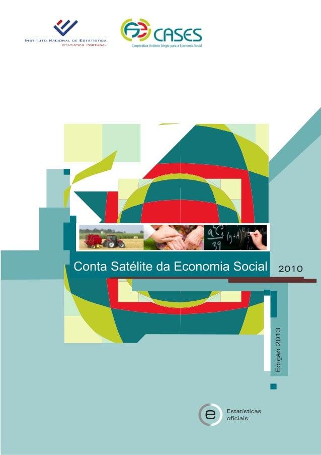 Conta satelite economia social 2013