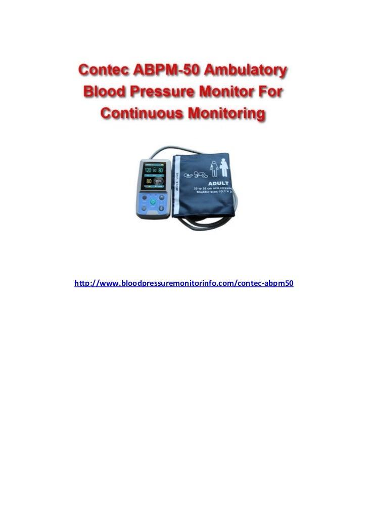 http://www.bloodpressuremonitorinfo.com/contec-abpm50