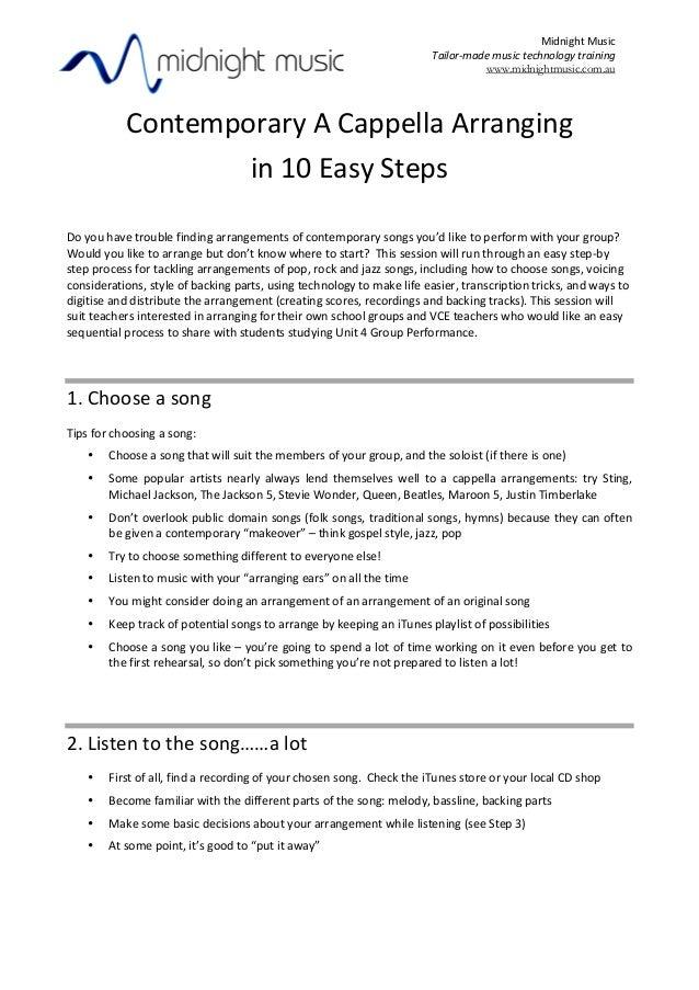 Contemporary a-cappella-arranging-workshop-notes