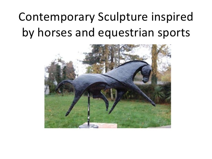 Contemporary Sculpture inspired by horses and equestrian sports