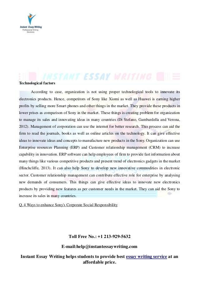 Contemporary essay writing