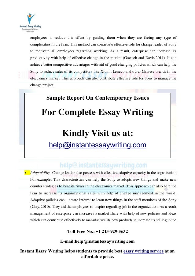 contemporary international problems essay The american river college library seeks to provide instruction, information resources, and services to support the college mission and supplement the instructional.