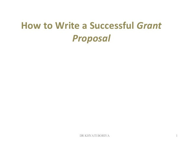 Examples of Successful Grant Proposals
