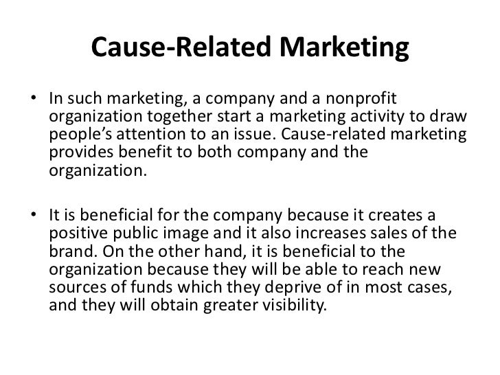 Examples of Cause Marketing