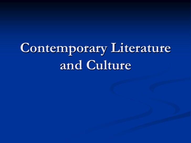 Contemporary literature & culture