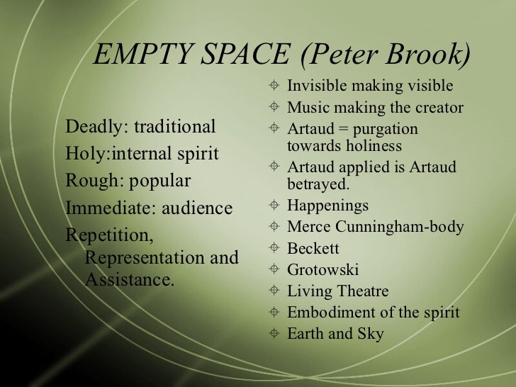 Peter Empty Empty Space Peter Brook