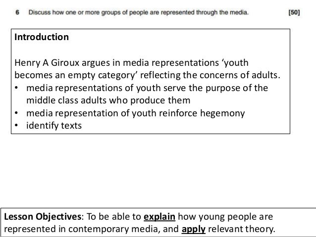 Help? How can i end my coursework essay: How are teenagers represented in the media?