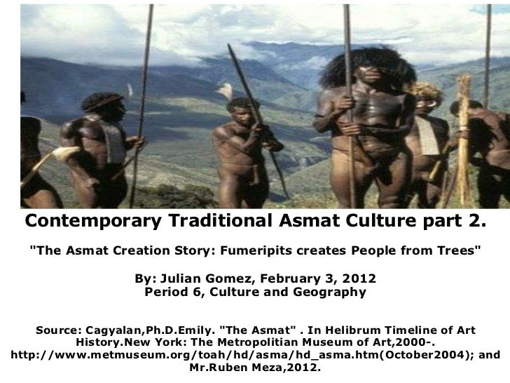 """ContemporaryTraditional Asmat Culture part 2. """"The Asmat Creation Story: Fumeripits creates People fr..."""