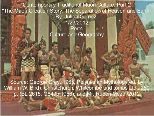 Contemporary Traditional Maori Culture, Part 2 ''The Maori Creation Story: The Separation of Heaven and Earth'' By: Julian...