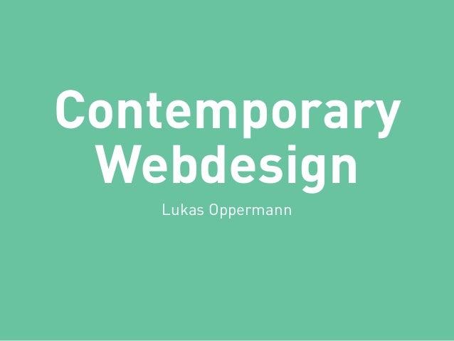 Contemporary Webdesign Lukas Oppermann