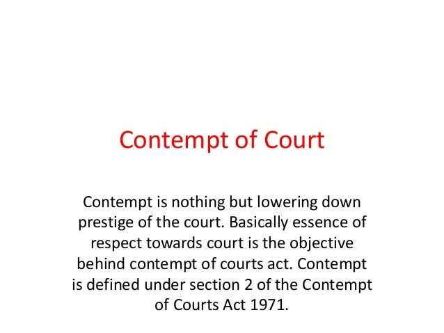 contempt of court essays
